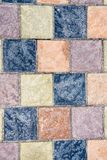Detail of a concrete pavement. With tiles Royalty Free Stock Image