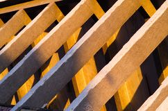 Detail of a concrete structure of old Strahov Stadium in Prague Stock Photo
