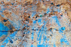 Detail of concrete wall covered with graffiti Stock Images