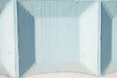 Detail of concrete wall painted in blue color Royalty Free Stock Photography
