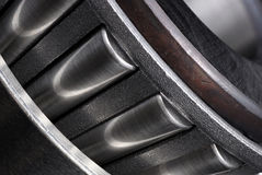 Detail on the conical bearing. Royalty Free Stock Photo