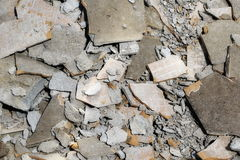 Detail construction and demolition debris at construction site Royalty Free Stock Photography