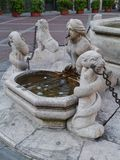 A detail of the Contarini fountain  in Bergamo Royalty Free Stock Photography