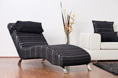 Detail of a contemporary living room Royalty Free Stock Images