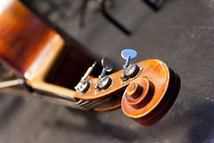 Detail of the contrabass head Royalty Free Stock Photography