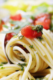 Detail of cooked spaghetti Stock Images