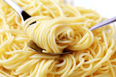 Detail of cooked spaghetti Royalty Free Stock Images
