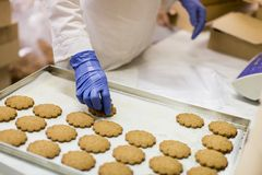 Cookies factory Royalty Free Stock Photography