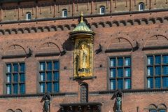 Detail of Copenhagen City Hall, Denmark Stock Image
