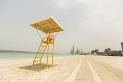 Corniche beach in Abu Dhabi. Detail from Corniche beach in Abu Dhabi, United Arab Emirates. Corniche is blue flagged public beach Royalty Free Stock Images