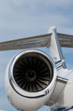 Detail of corporate jet Stock Photography