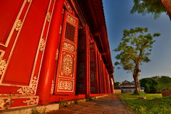 Detail of the corridor. Imperial City. Hué. Vietnam Royalty Free Stock Photography