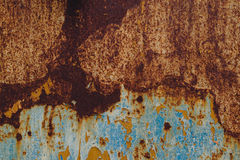 Detail of corroded metal plate Stock Photo