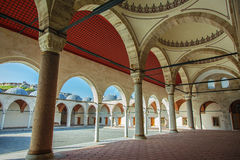 Detail of cortyard of Mihrimah Sultan Mosque Stock Image