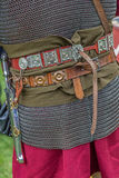 Detail of the costume of a Roman soldier Royalty Free Stock Photos