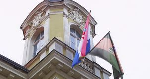 Detail of county building, Pozega Royalty Free Stock Photo