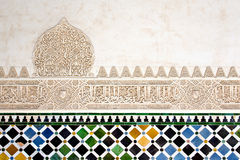 A detail in the Court of the Myrtles, Alhambra Palace, Granada,. Andalusia, Spain Stock Image