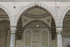 Detail of courtyard on the Blue Mosque in Istanbul, Turkey. Royalty Free Stock Photography