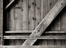 Wooden Wall and Bracing Royalty Free Stock Photo