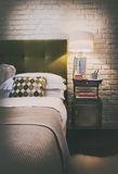 Detail of cozy home bedroom Royalty Free Stock Image