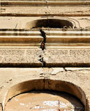 Detail of Crack at Old Church Royalty Free Stock Images