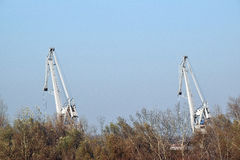 The detail of the crane industry Stock Photo