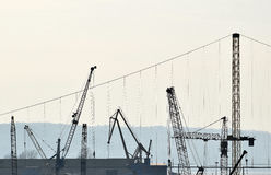 The detail of the crane industry Royalty Free Stock Image