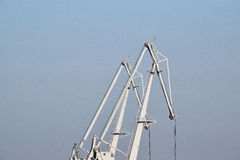 The detail of the crane industry Stock Images