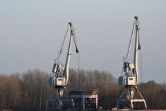 The detail of the crane industry Royalty Free Stock Photography