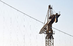 The detail of the crane industry. And to convey heavy loads as well as the manipulation of man over nature and help in accelerating the development of industry Stock Photo