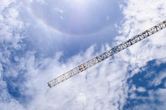 Detail of crane with Sun halo, Sprectrum Stock Photos