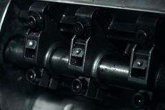 Detail crankshaft as a part of the mechanism Royalty Free Stock Images