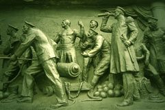 Detail Crimean War monument. Sebastopol. Sebastopolю Ukraine. Crimean War monument Royalty Free Stock Photo