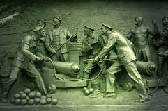 Detail Crimean War monument. Sebastopol Stock Image