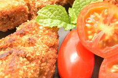 Detail of Croquettes Stock Photo