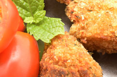 Detail of Croquettes Royalty Free Stock Photo