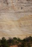 Detail, cross current layers of colored sandstone Stock Images