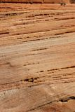 Detail, cross current layers of red sandstone Stock Images