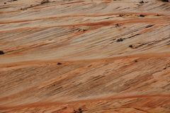 Detail, cross current layers of red sandstone Stock Photography