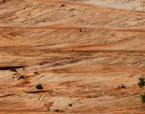 Detail, cross current layers of red sandstone Royalty Free Stock Image