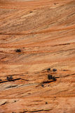 Detail, cross current layers of red sandstone Stock Image