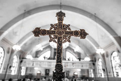 Detail of a Cross inside a Church Stock Photos