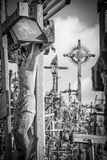 Detail of a crucifix. At the Hill of the Crosses near Siauliai, Lithuania Stock Photos