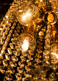 Detail of a crystal chandelier Royalty Free Stock Image