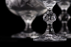 Detail of crystal cut glass Royalty Free Stock Images