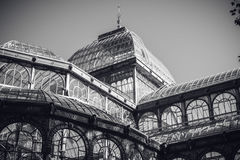 Detail of Crystal Palace in Madrid Stock Image