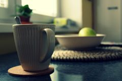 Detail of cup of coffe Royalty Free Stock Photo