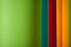 Detail of curved, colored sheets of paper Royalty Free Stock Image
