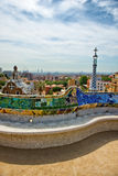 Detail of the curving mosaic wall, Parc Guell Royalty Free Stock Photography