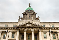 Detail of the Custom House in Dublin. Detail of the Custom House, a neoclassical building in Dublin Royalty Free Stock Photos